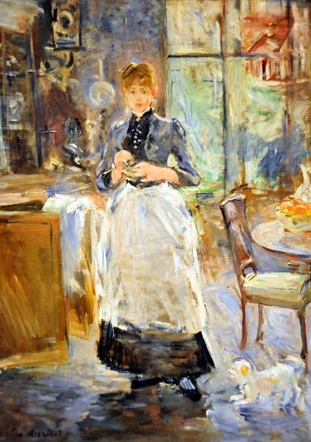 berthe morisot in the dining room at national gallery of