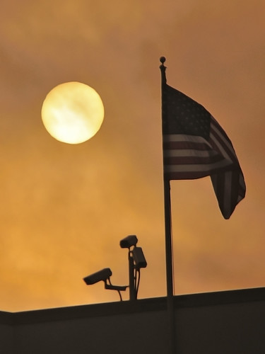 sunset sun america ball star video nikon december afternoon florida dusk flag surveillance orb sigma cctv walmart pole american cameras 30th f56 bigbrother 70300mm starsandstripes pensacola 2010 oldglory escambia f456 d300s jeremyfarr