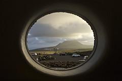 window, cloud, white, sunlight, light, close-up, circle, darkness, blue, sky, black,