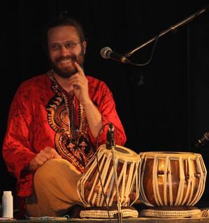 Indian tabla player
