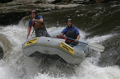 whitewater kayaking(0.0), vehicle(1.0), sports(1.0), rapid(1.0), river(1.0), recreation(1.0), outdoor recreation(1.0), boating(1.0), extreme sport(1.0), water sport(1.0), canoeing(1.0), raft(1.0), rafting(1.0),