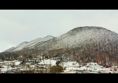 winter mountain snow virginia clinchmountain