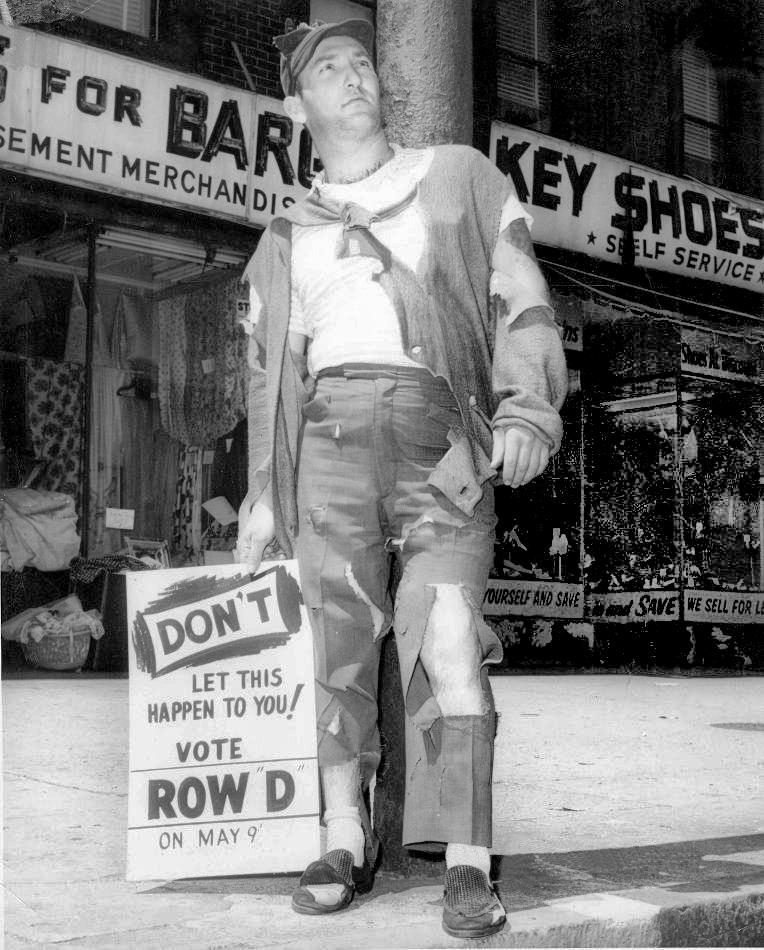 Political campaigner - Hoboken, New Jersey U.S.A. - 1953