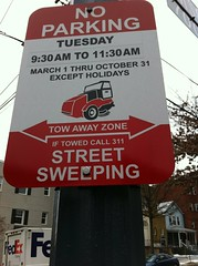 DC DDOT's new no parking, street sweeping signs