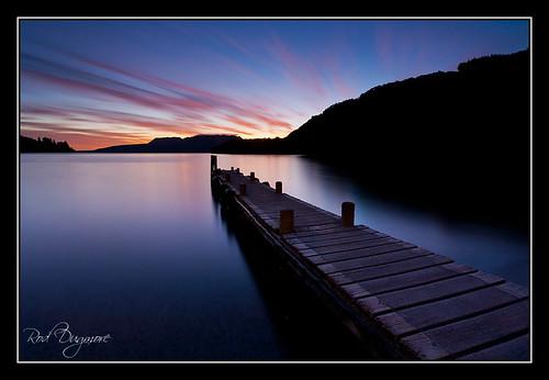 newzealand lake water clouds sunrise landscape jetty northisland 5d tarawera