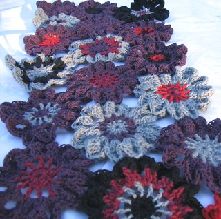 Japanese flower shawl