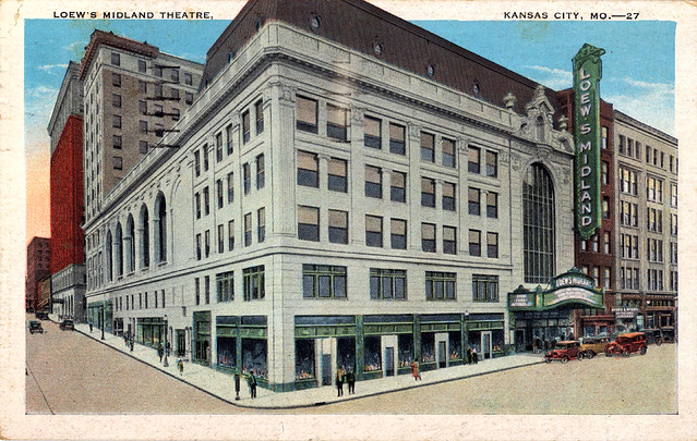 Loew 39 S Midland Theatre Kansas City Mo Postcard Flickr Photo Sharing