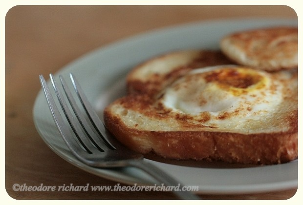 Egg In The Hole Breakfast Plated   Flickr - Photo Sharing!