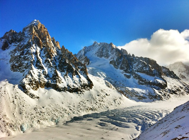 Les Grand Montets, Chamonix Mont-Blanc, France by flickr user trailsource