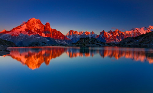 Sunset at Lac Blanc (Explored)