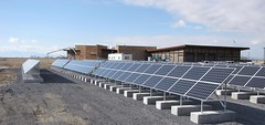 Maintaining solar panels, Solar Panels at Bear River Migratory Bird Refuge