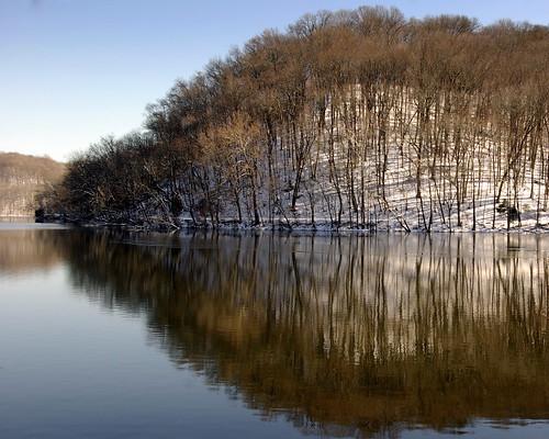 lake snow covered radnor