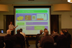 Green guru Ben Gill giving a presentation