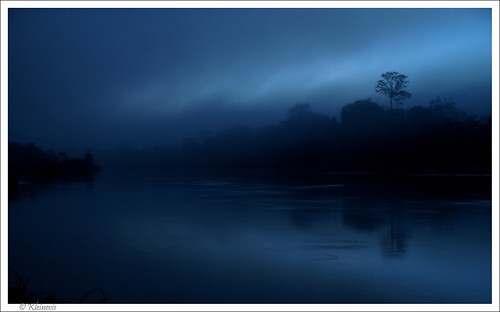 blue sunrise landscape suriname tapanahonyriver