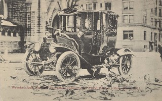 Wrecked Auto, Dayton, OH - 1913 Flood