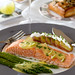 poched salmon with asparagus and lime vinegrette