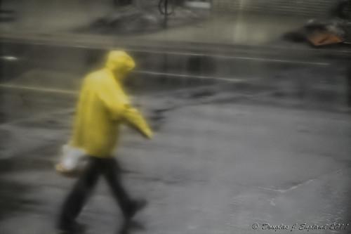 rainy day market goer