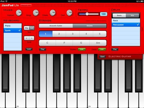 ipad piano keyboard synth app
