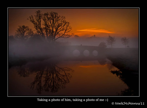 morning trees ireland people mist fog sunrise reflections dawn bridges photographers explore rivers maynooth kildare ourtime flickrexplore cartonhouse ryeriver