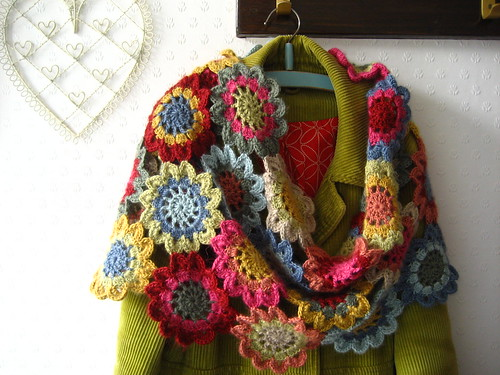 Japanese Flower Scarf