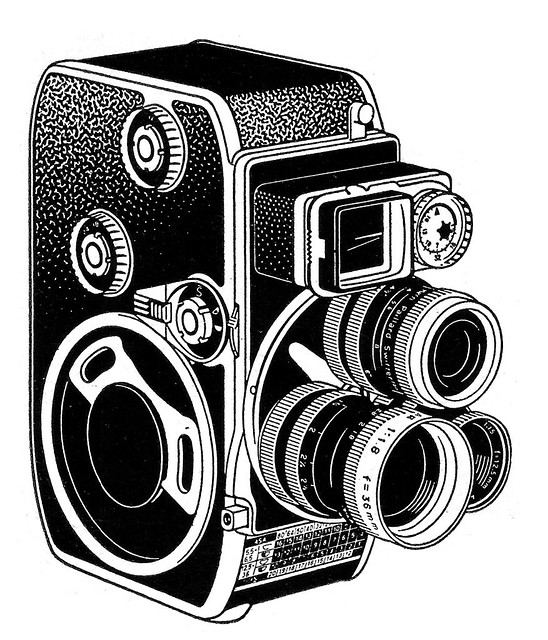 Camera Line Drawing Art Nikon