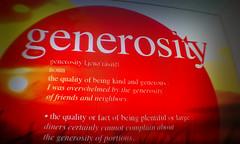 macro monday | generosity