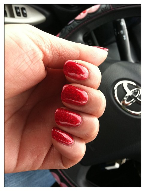 Gelish gel nails in Good Gossip | Flickr - Photo Sharing!