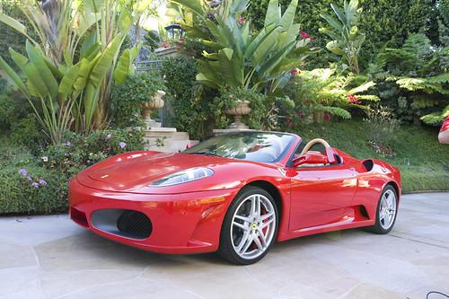 Red Ferrari F430 Spider Los Angeles Rental Car
