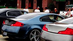 auto show(0.0), automobile(1.0), automotive exterior(1.0), wheel(1.0), vehicle(1.0), automotive design(1.0), rim(1.0), infiniti g(1.0), bumper(1.0), land vehicle(1.0), luxury vehicle(1.0), coupã©(1.0), supercar(1.0), sports car(1.0),