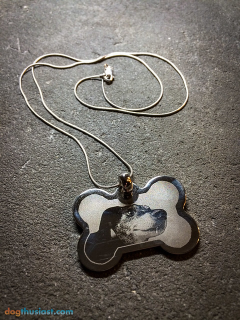 Pet photo pendant with chain