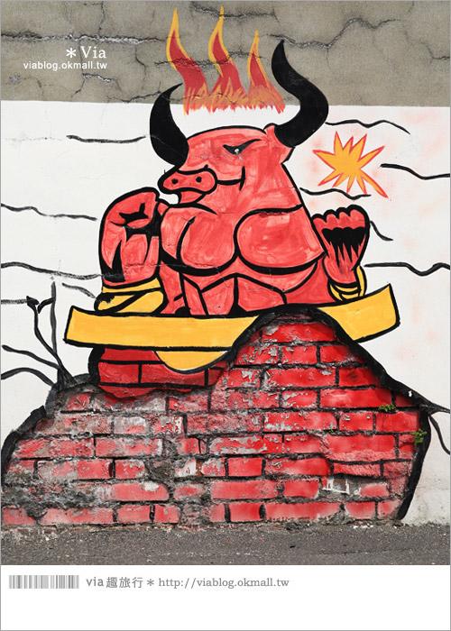 【彰化景點推薦】乳牛彩繪村(福寶村)~數百頭彩色小牛+夢幻藍晒圖的彩色村14