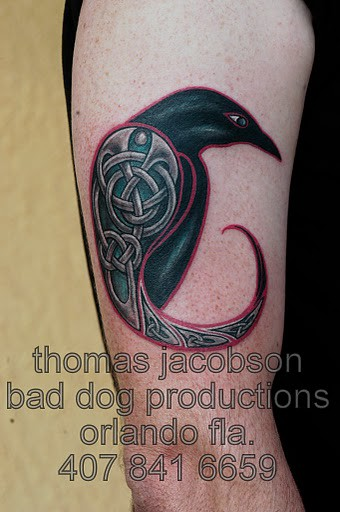 celtic raven tattoo