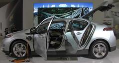 mazda3(0.0), chevrolet(1.0), automobile(1.0), automotive exterior(1.0), family car(1.0), vehicle(1.0), automotive design(1.0), auto show(1.0), mid-size car(1.0), compact car(1.0), chevrolet volt(1.0), sedan(1.0), land vehicle(1.0),