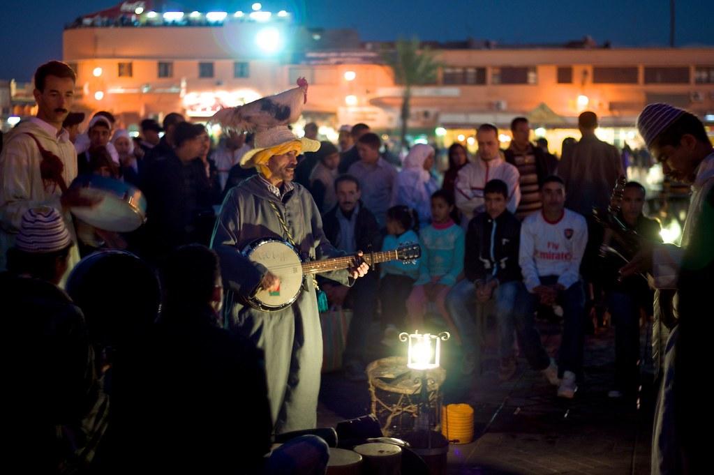 Marrakech Jemaa El Fna Storyteller Musician