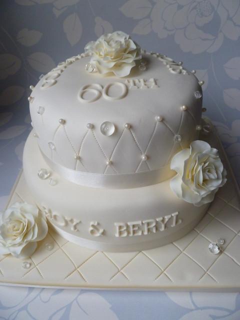 diamond 60th wedding anniversary cake flickr photo sharing. Black Bedroom Furniture Sets. Home Design Ideas