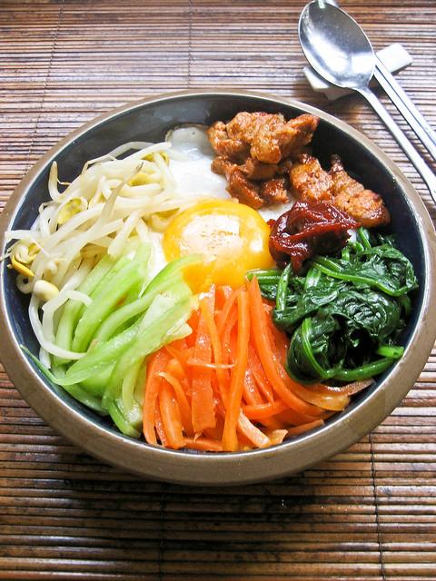 Bibimbap (Korean Mixed Rice)   Flickr - Photo Sharing!