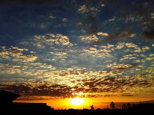 blue light sunset sky orange beautiful beauty yellow clouds dark florida awesome 365 365project