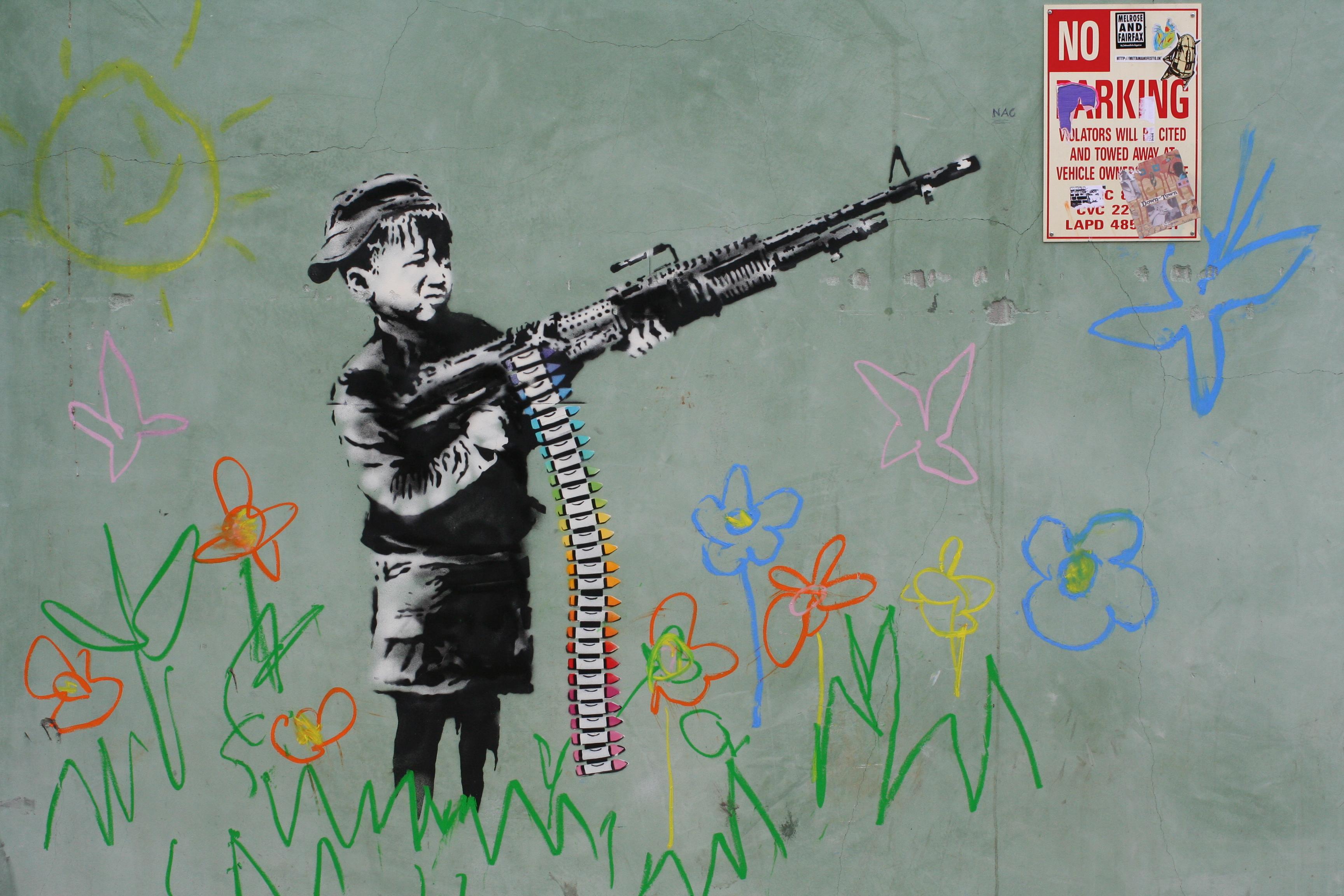 Banksy in Westwood, Los Angeles, CA Feb 18 2011