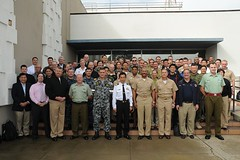 SAN DIEGO (Feb. 17, 2011) Planners and partners involved in Pacific Partnership 2011 pose for a group photo at the U.S. Navy's Third Fleet headquarters compound during a conference to finalize plans for this year's mission. (U.S. Navy photo by Chief Mass Communication Specialist Terry Feeney)