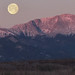Full Moon Setting Over Pike's Peak: Colorado Springs, Colorado (CO) by Floyd Muad'Dib