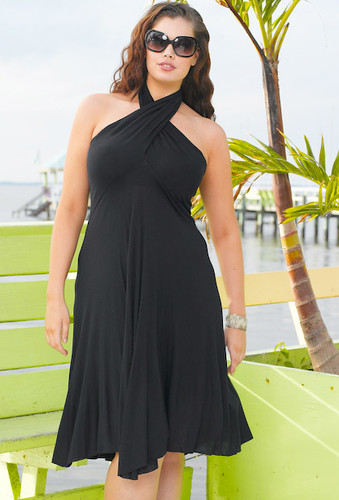 Six-in-One! Convertible St. Lucia Plus Size Dress by Beach Belle®
