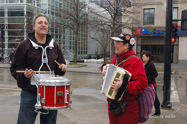 Pro-Labor protests - Madison - Feb. 17