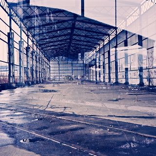 double exposure: hangar