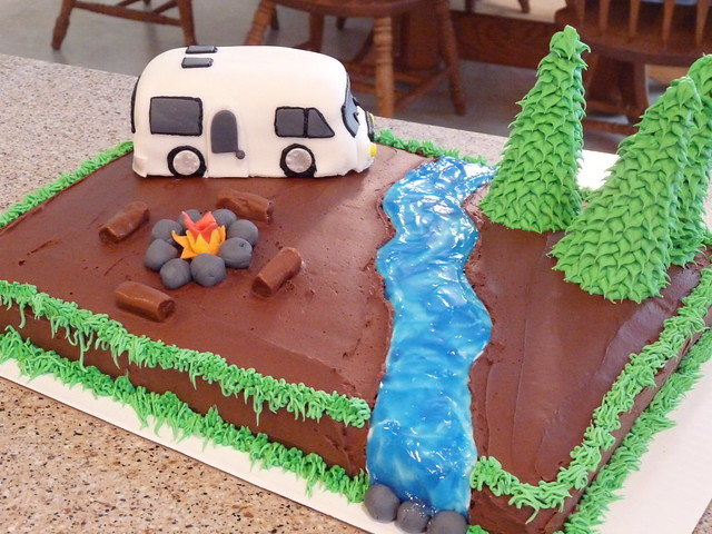 Model Fifth Wheel RV Motorhome Cake  CakeStoriesca