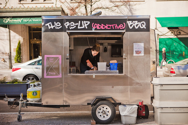Re-Up BBQ Food Cart at the Vancouver Art Gallery