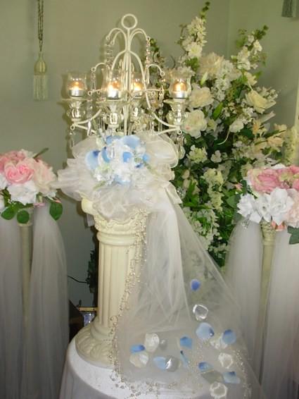 Wedding Ideas : Wedding Centerpiece Idea - Use Candelabras Instead