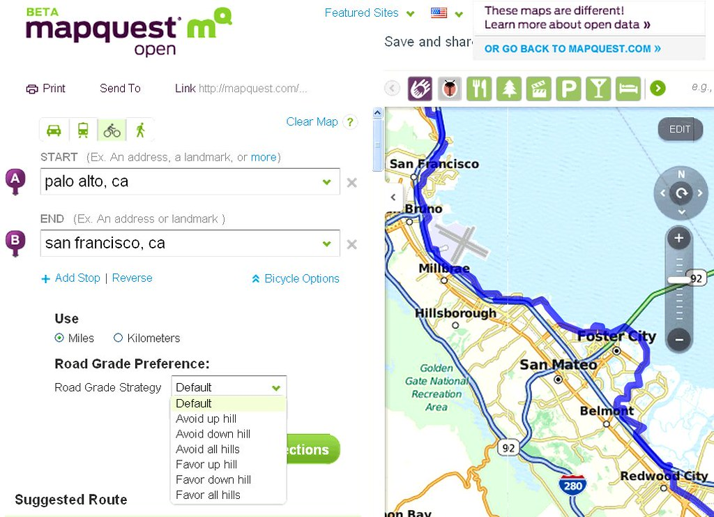 Mapquest adds bike directions | Mapquest does bike direction… | Flickr
