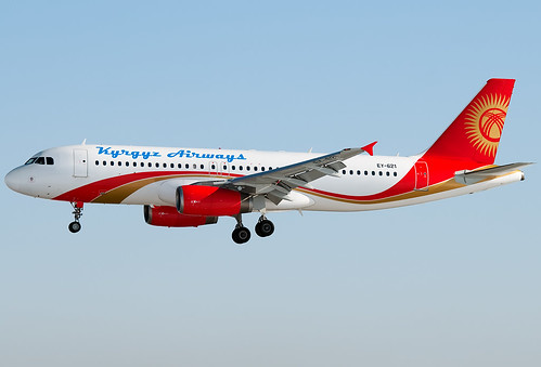 EY-621 Kyrgyz Airways Airbus A320-231