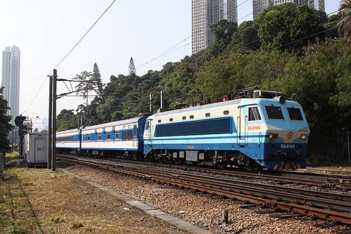 Northbound Through Train at Fo Tan