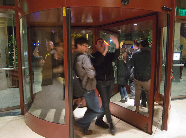 Revolving Door Party at The Hilton